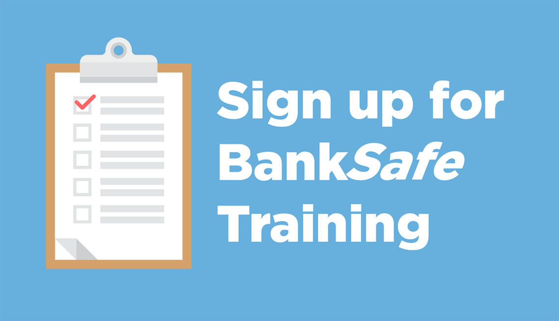 Sign up for bank safe training
