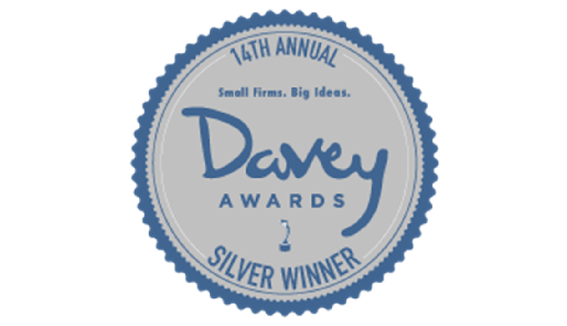 14th annual Davey awards. Silver winner