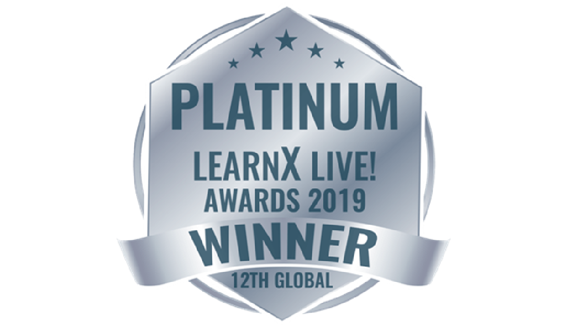 Platinum Learn X Live Awards 2019 Winner