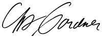 Chris Gardner signature