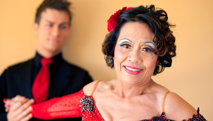 Umpha Sikirinthra, ballroom dancer at 74 years of age