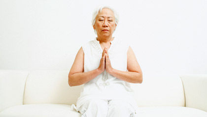 Senior Woman Meditating