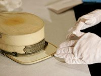 A Pullman railroad porter hat dating from the 1930s examined by Smithsonian expert