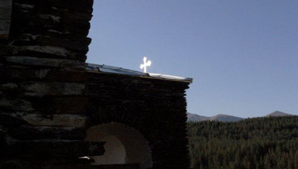 Heaven on earth- A crucifix glints on the top of a church in Georgia