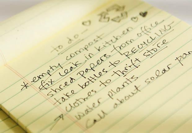 Notas sobre un cuaderno - sea usted una prioridad