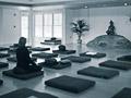 Participants practice meditation