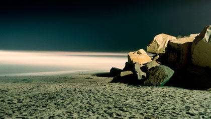 The beach at night representing belief in miracles