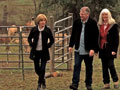 Jane Pauley with Alpaca ranchers