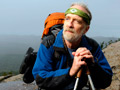 Joe Liles portrait on the Appalachian trail near Bear Mountain, New York, 10/2010.