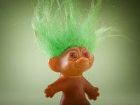 Memorabilia the baby boomer loves- a Troll doll