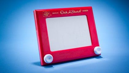 Memorabilia the baby boomer loves- Etch-a-sketch toy