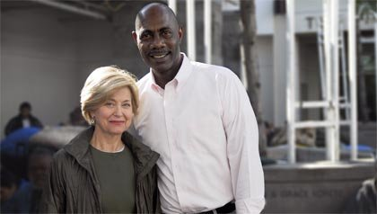 Jane Pauley interviews Orlando Ward about his transformation from basketball player to helping the poor in Los Angeles