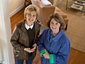 Jane Pauley and home stager Catherine Silverman for Your Life Calling on the Today show sponsored by AARP