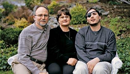 Veterano de guerra y su familia