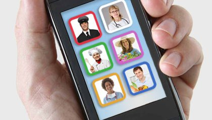 Smartphone with help options for busy caregivers