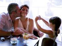 Pareja de enamorados besándose mientras una niña les toma una foto - Qué hacer cuando se tiene un nuevo novio?