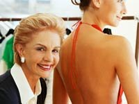 Fashion designer Carolina Herrera in her workshop