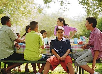 Familia en Parque