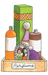 Organizador para perfumes