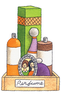 Perfume cosmetic organizer tray box
