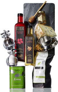 salt and pepper, fine foods, and other gift ideas for the foodie
