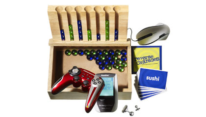 cards, mouse, games and other gift ideas for gamers
