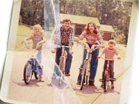 Old torn photo of family on bikes-Family Estrangement