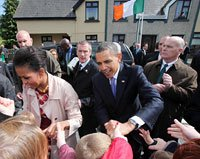 President Barack Obama and Michelle Obama visit Moneygall, Ireland