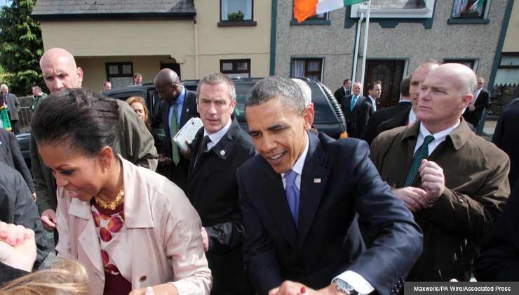 President Barack Obama and Michelle Obama visit Moneygall, Ireland