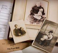 Album de fotos antíguas familiares