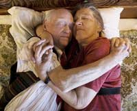 sex after illness senior couple hugging