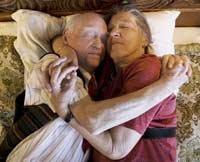 sex after illness senior couple hugging