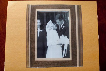 Ann and Fred Jealous on their wedding day in 1966-interracial couples