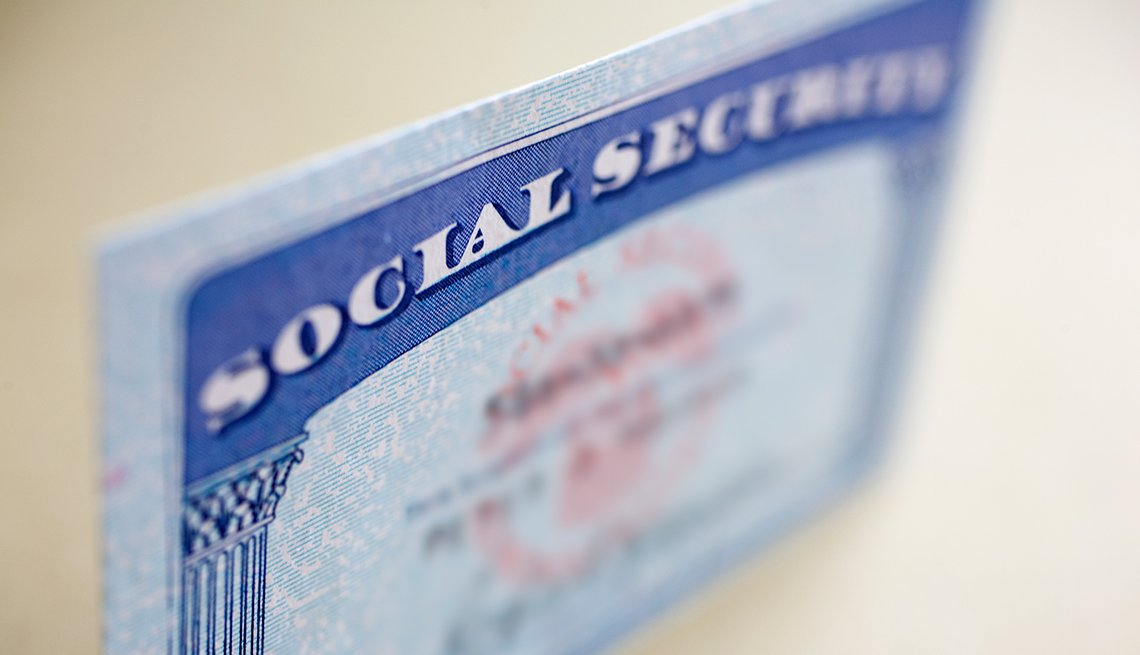 Social Security card, Social Security benefits, AARP Research, Economic Security, Work