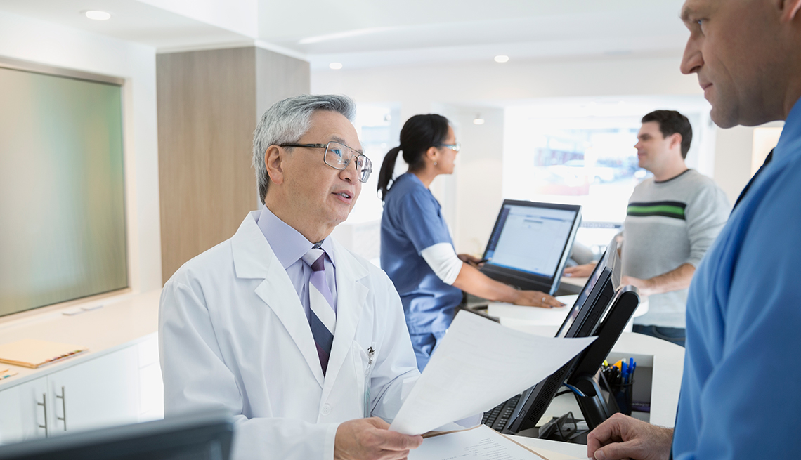 Doctor's office, doctor, patient, AARP Research, Health care