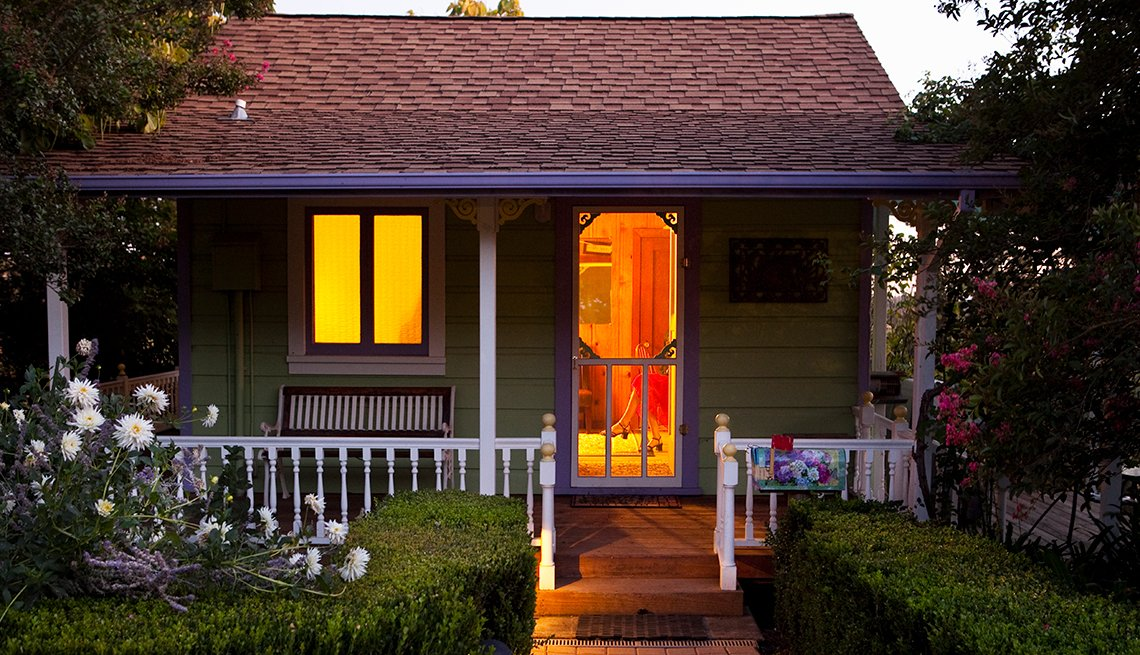 Cottage exterior, Dusk, Housing, AARP Research, Livable Communities