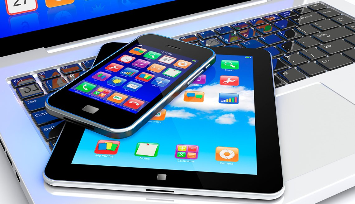 Laptop, Tablet PC, Smartphone, Technology, AARP Research, Topics and Issues