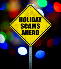 Many shoppers engage in holiday scams, risky behaviors and stressful events that make resisting swindlers difficult.