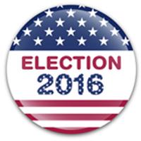 USA Election 2016  badge