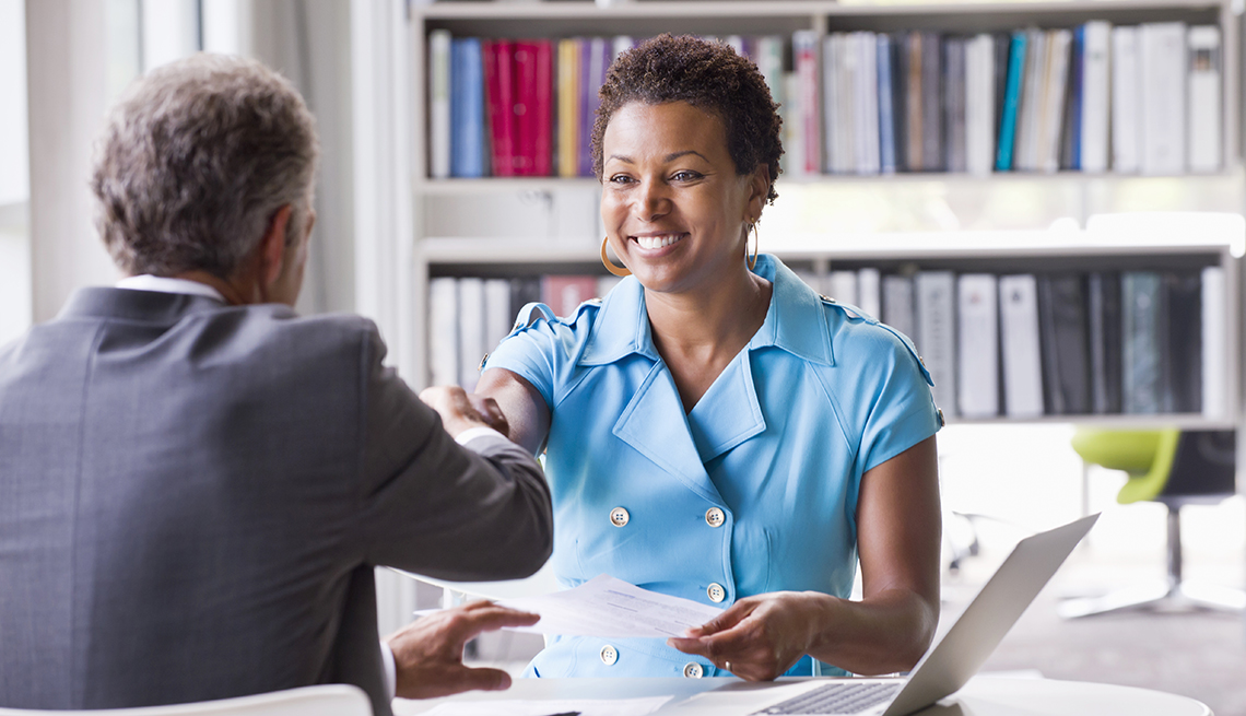 African American Woman at Job Interview