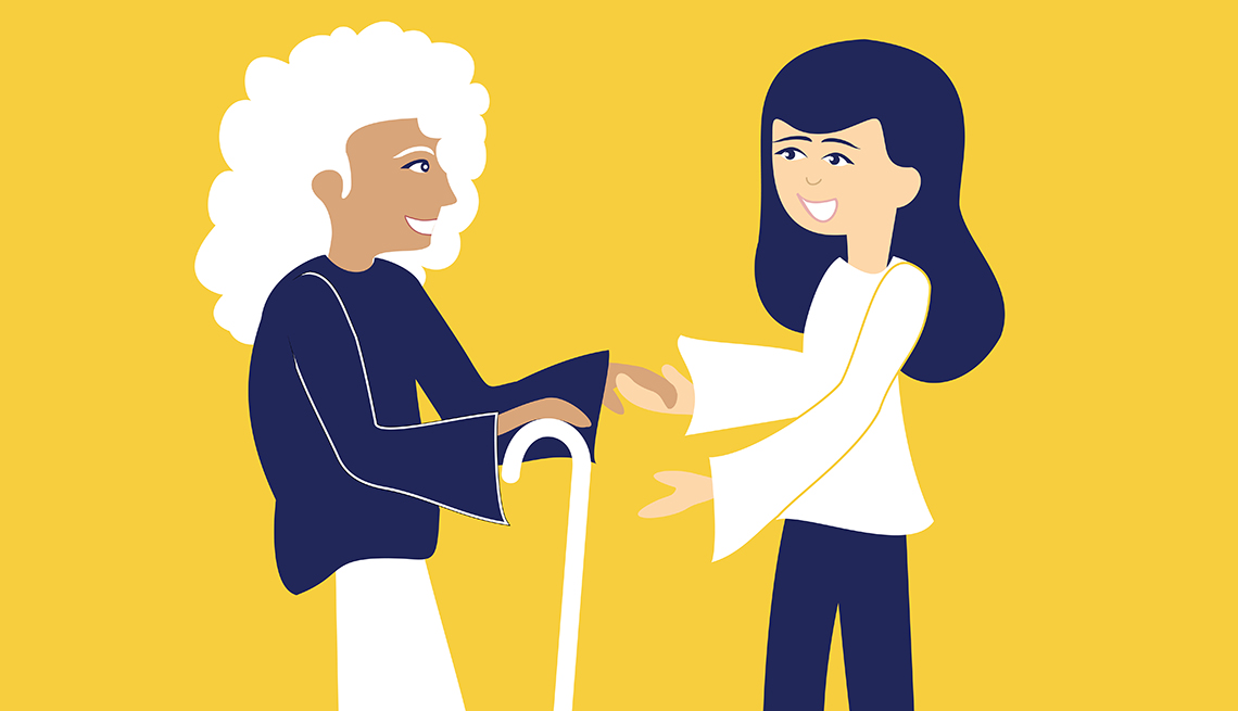 Caregiver Helping Older Woman