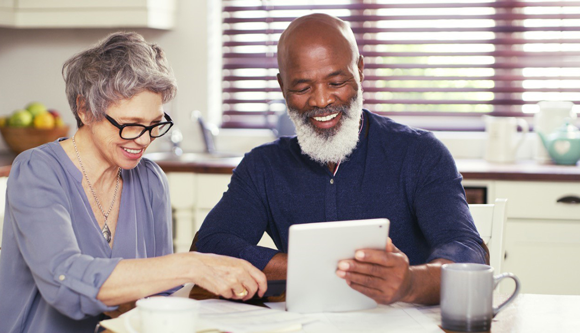 Older Couple Reviewing Finances