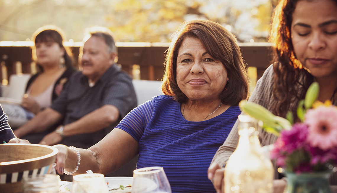 Latino Family Enjoying a Cookout