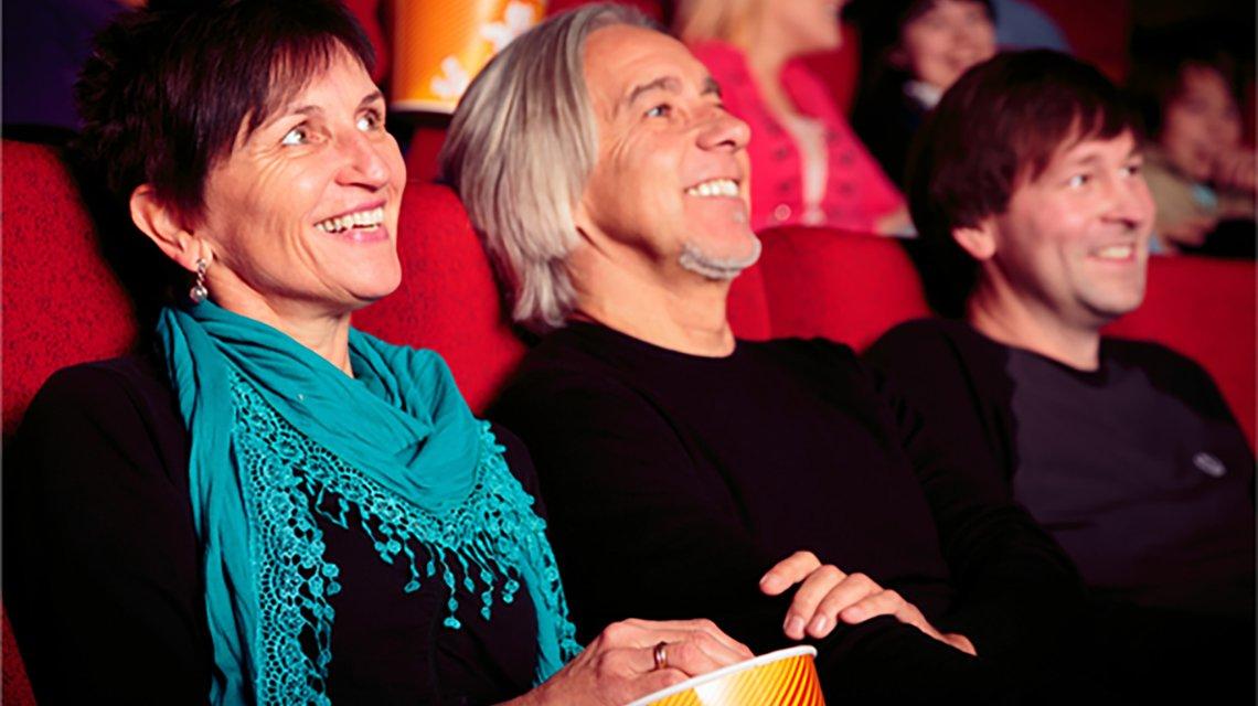 Couple enjoying movie