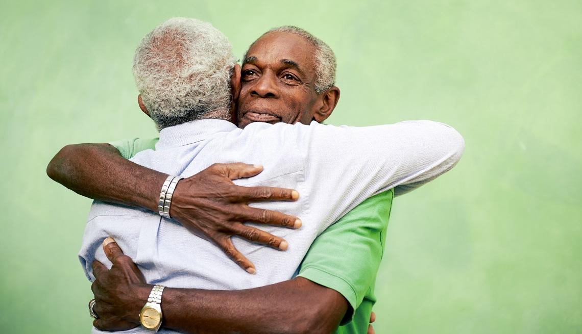 Black Men Hugging