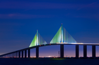 Tampa to Saint Petersburg Skyway Bridge