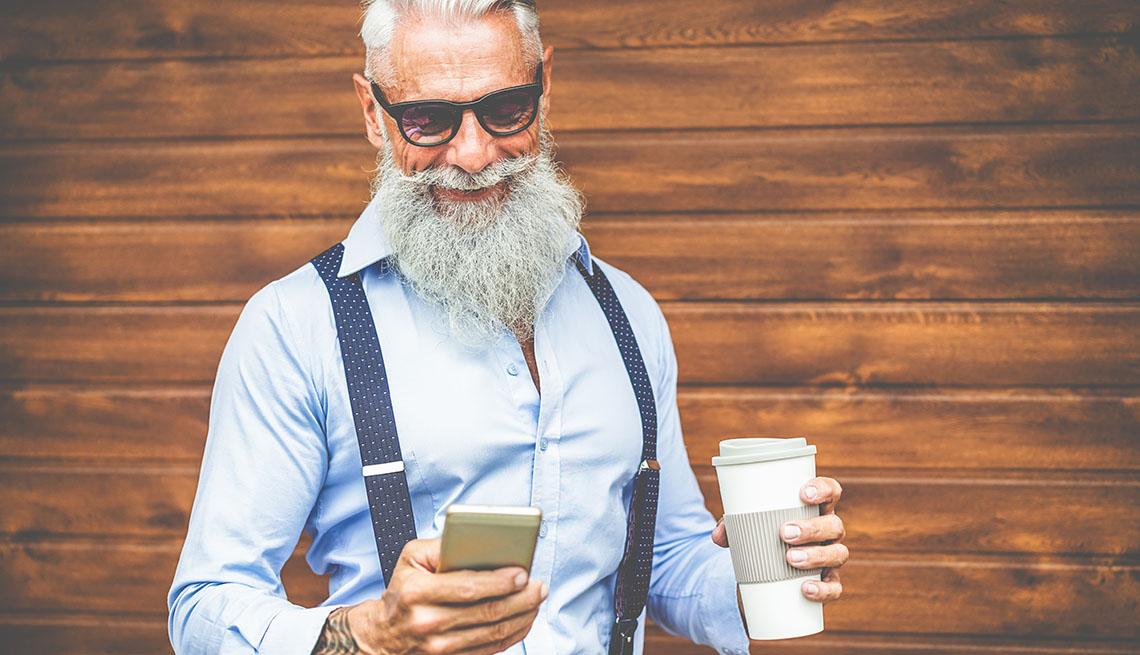 Older Man Holding Smartphone