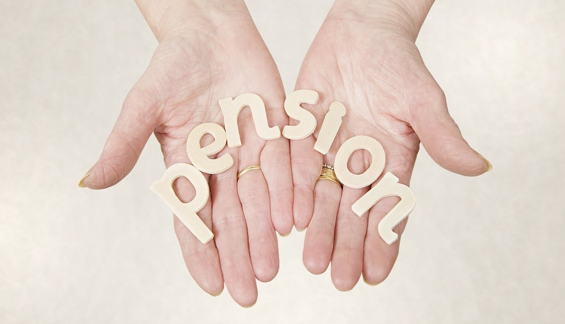 hands holding block letters that spell pensiom