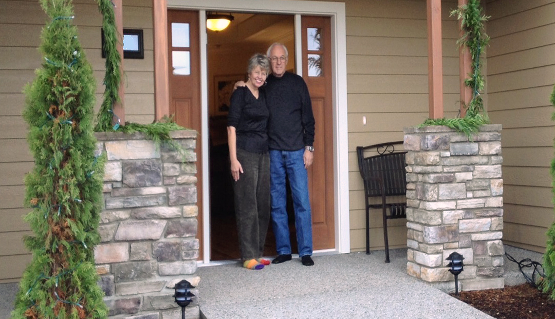Sharon and Howard Johnson at home in Central Point, Oregon