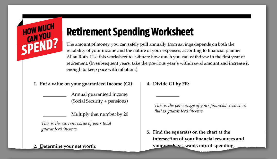 link to downloadable worksheet on retirement spending